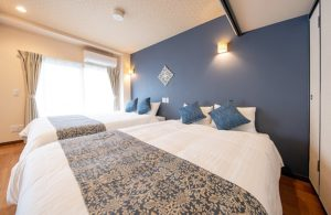 ホテル寝室 沖縄浦添ホテル ハーベスオキナワ